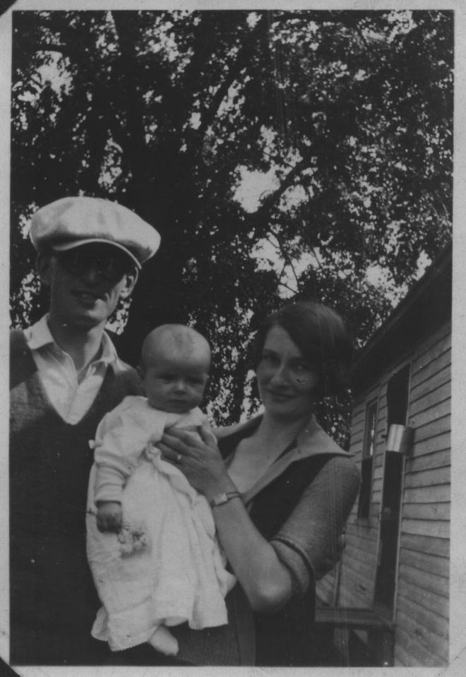 My father Lawrence Kaiser with his parents, Jesse and Florence